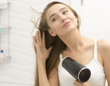 healthy hair drying